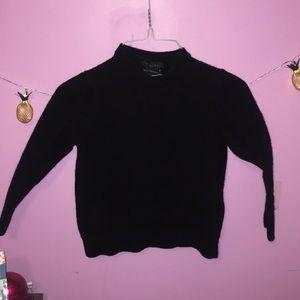 Black Tahari 100% Wool Sweater